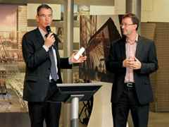 Presenting the Global Holcim Awards Finalist 2012 certificate, CEO of Holcim France, Gérard …