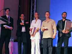"Winning team of the  Holcim Awards Acknowledgement prize 2008 for ""Low-impact …"