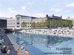 Urban renewal and swimming-pool precinct