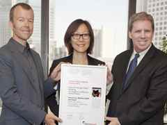 "Global Holcim Awards 2012 finalist certificate handover for ""Zero net energy school building"", …"