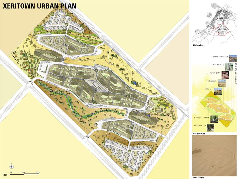 "Project entry 2008 Africa Middle East - ""Xeritown responsive urban planning strategy, Dubai, …"