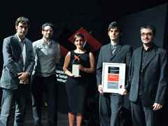 "Holcim Awards Silver 2008 Europe winning team from ""ecosistema urbano"", Madrid (l-r): José Luis …"