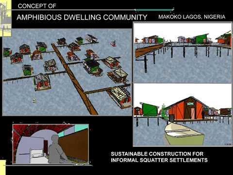 Amphibious dwellings in informal settlements