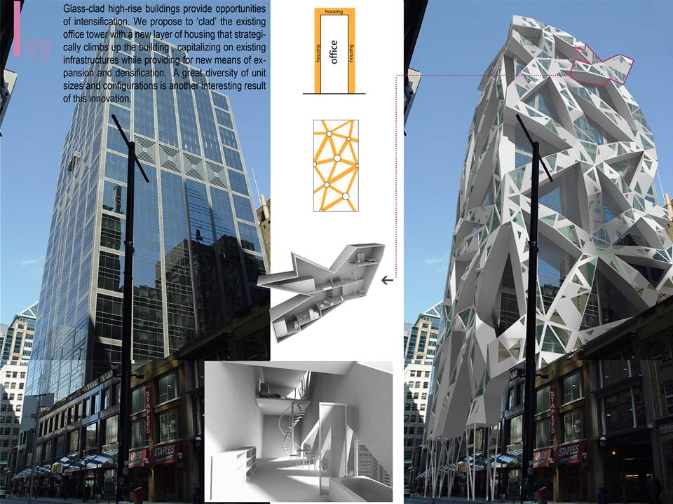 "Project entry 2008 North America - ""Residential density for urban spaces, Toronto, Canada"": …"