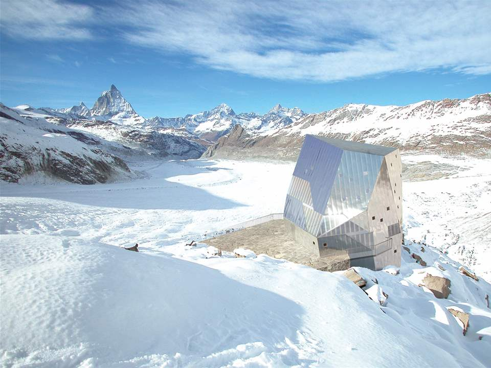 "Project entry 2008 Europe - ""Autonomous alpine shelter, Monte Rosa hut, Zermatt, Switzerland"": …"