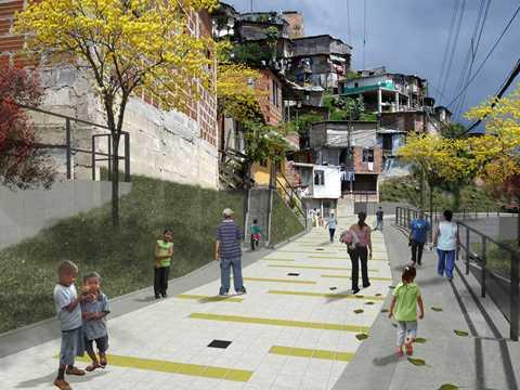 Urban integration of an informal area