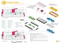 Project entry 2011 -  Zero net energy school building, Los Angeles, USA: Plans and systems diagrams.
