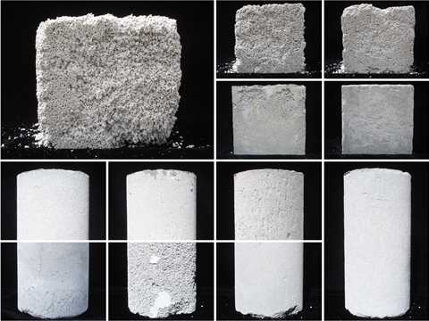 Project entry 2011 -  Foam concrete utilization research, Toronto, ON, Canada: Mix design samples …