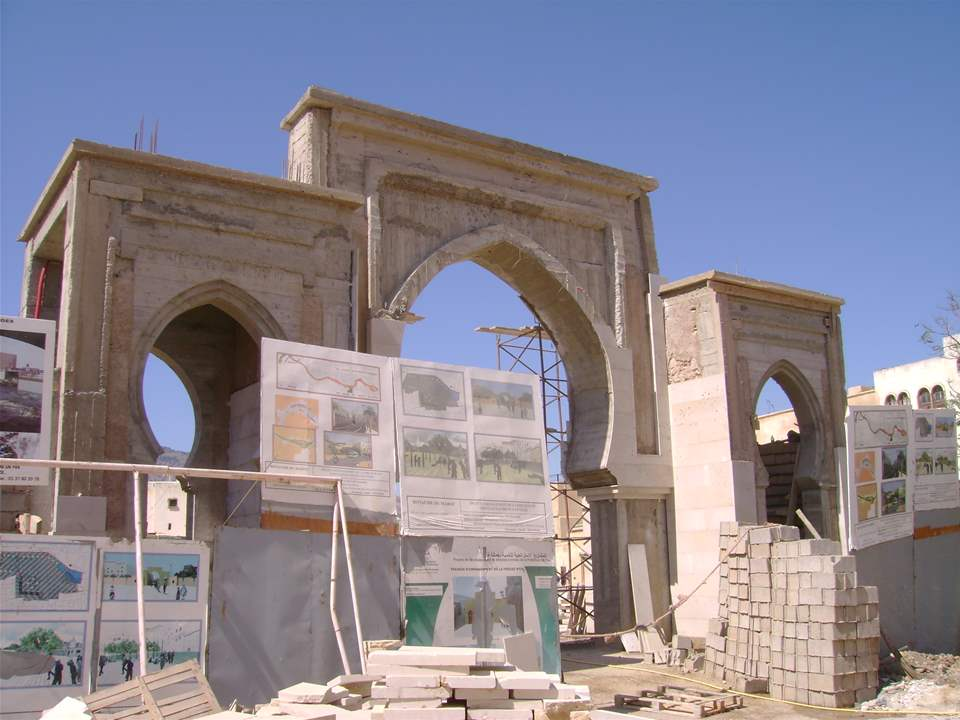 "Project update 2010 - ""River remediation and urban development scheme, Fez, Morocco"": The archway …"