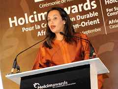 Salima Imani, Head HR and Communciations, Holcim Morocco – closing remarks and farewell.