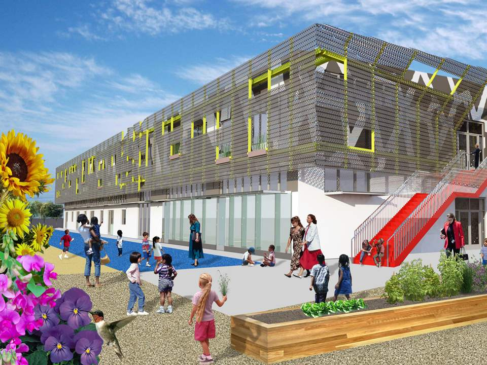 Zero net energy school building