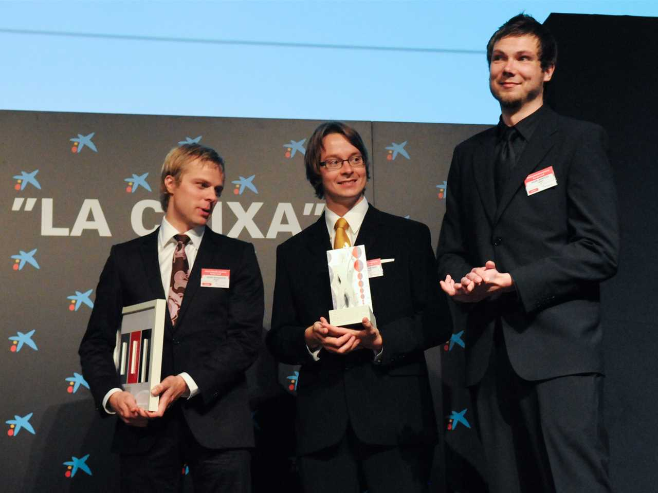 "Holcim Awards ""Next Generation"" 3rd prize 2008 Europe (l-r): Heikki Riitahuhta, Mikko Jakonen and …"