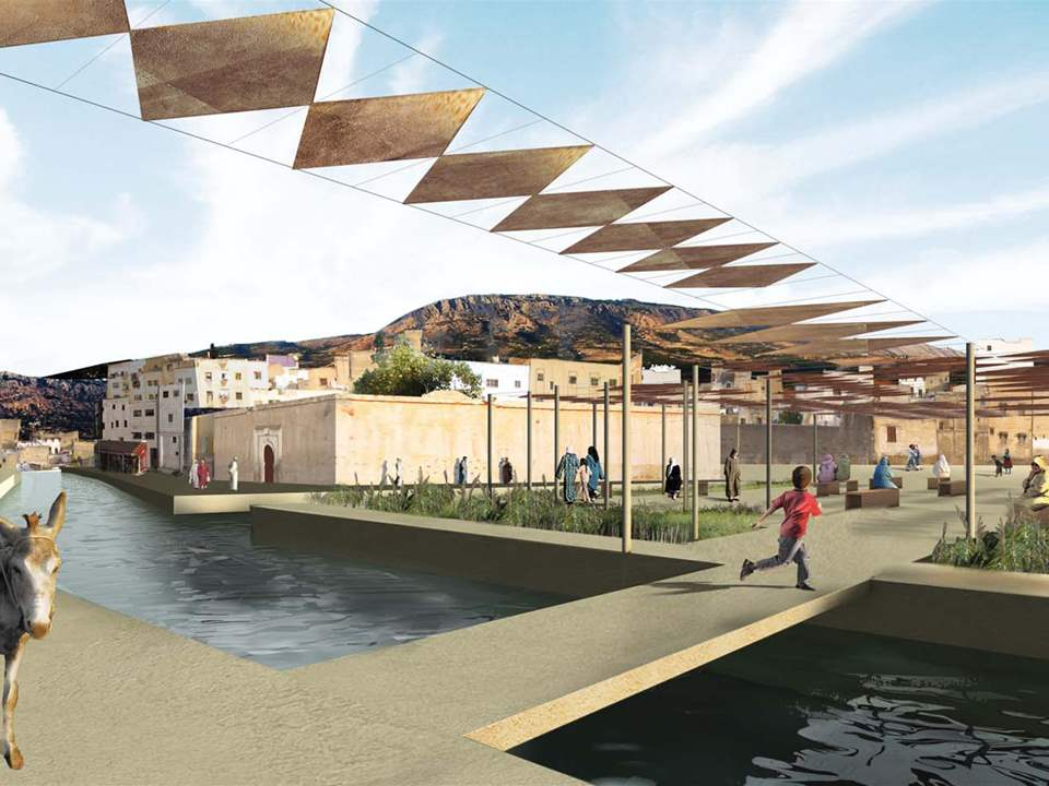 "Global Holcim Awards Gold prize 2009 - ""River remediation and urban development scheme, Fez, …"