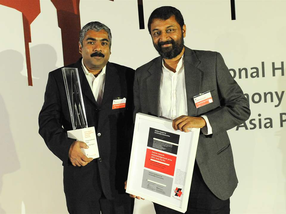 "Winners of the Holcim Awards 2011 Acknowledgement prize for ""Primary healthcare center, near …"