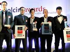 "Winners of the Holcim Awards ""Next Generation"" 2011 Latin America prizes (l-r): Gabriel Kozlowski …"
