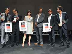 Winners of the Holcim Awards Gold, Silver and Bronze 2011 Europe (l-r): Tim Edler (Gold), Carlos …