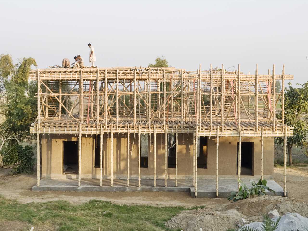 Global Finalist 2012: Locally-manufactured cob and bamboo school building, Jar Maulwi, Pakistan