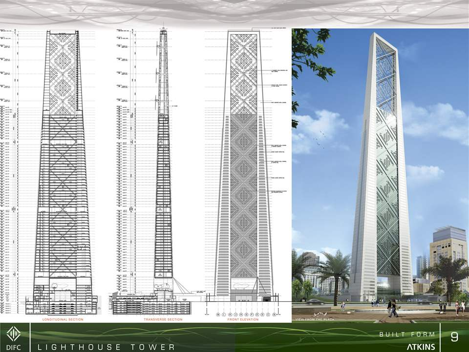 Global Finalist 2009: Lighthouse tower with low-carbon footprint, Dubai, United Arab Emirates