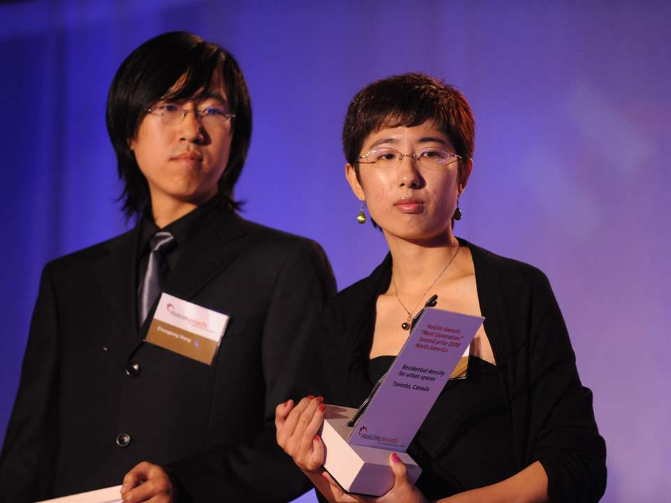 "Holcim Awards ""Next Generation"" 2nd prize 2008 North America: Chenglong Wang (right) and Lingchen …"