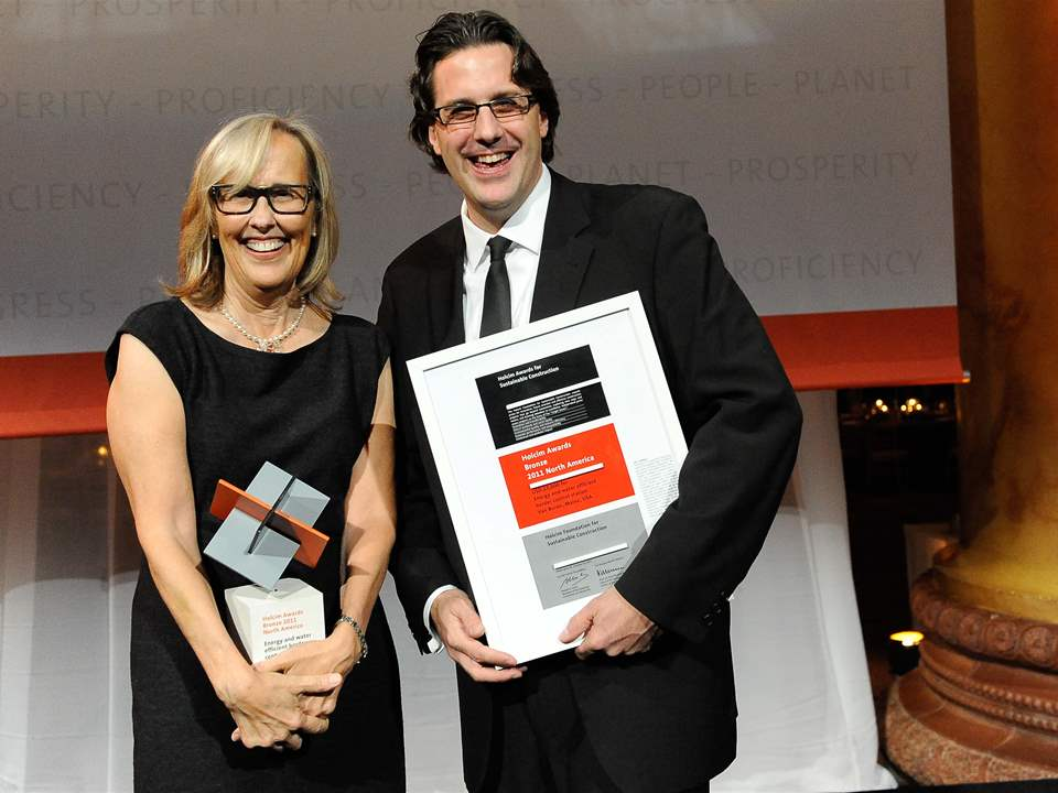 "Winners of the Holcim Awards Bronze 2011 North America for ""Energy and water efficient border …"