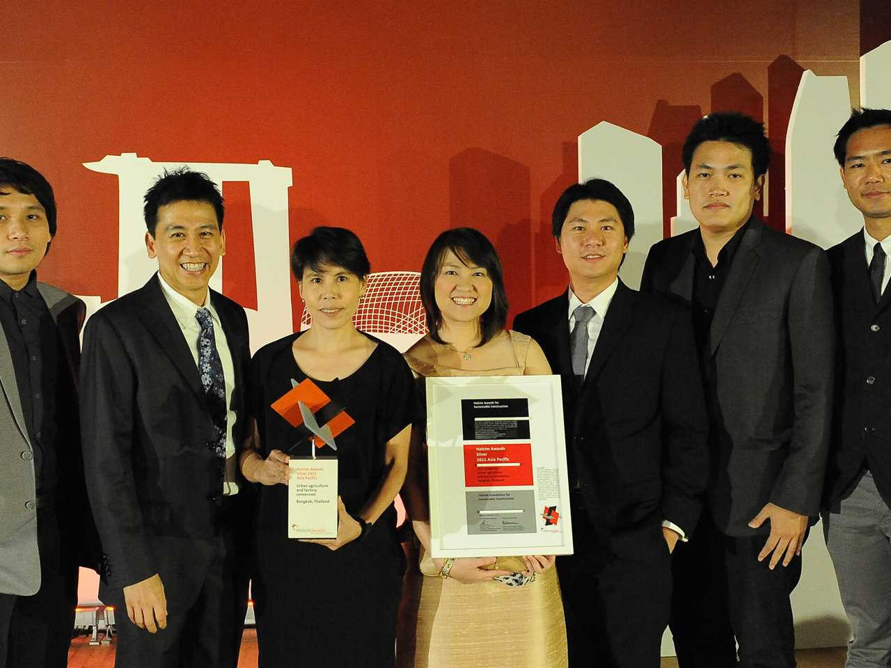 "Winners of the Holcim Awards Silver 2011 Asia Pacific for ""Urban agriculture and factory …"