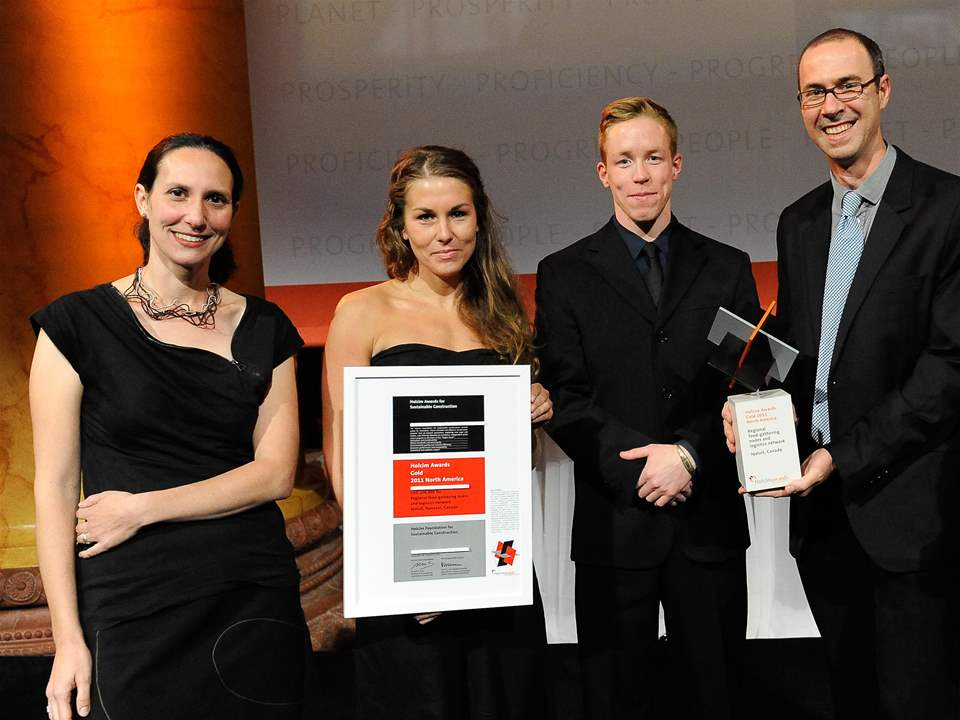 "Winners of the Holcim Awards Gold 2011 North America for ""Regional food-gathering nodes and …"
