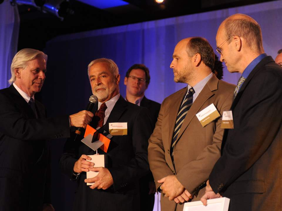Holcim Awards Gold 2008 North America: (l-r) Dennis Trudeau, Christopher Collins, Nigel Nicholls …
