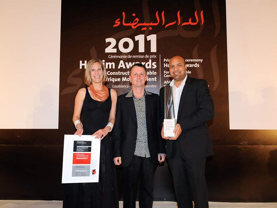 Representatives of the Holcim Awards Acknowledgement prize 2011 Africa Middle East winner …
