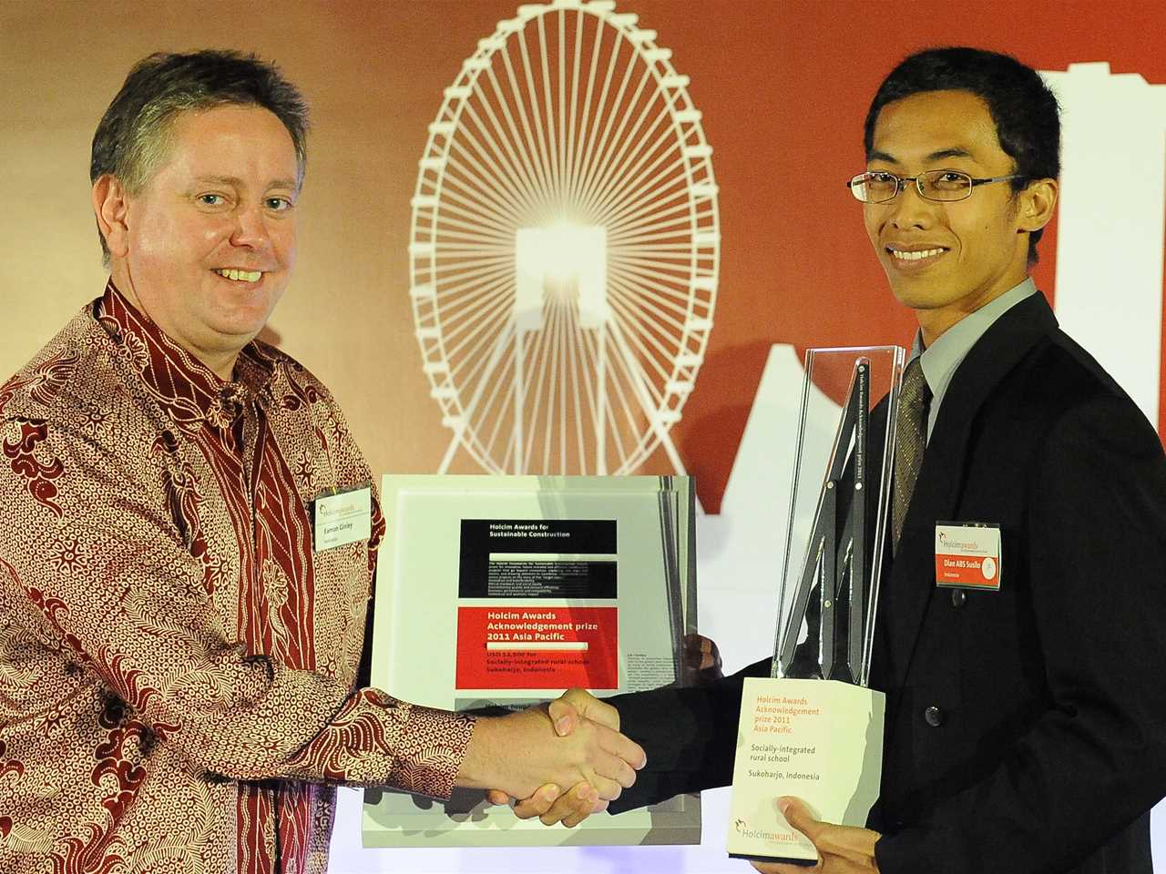 "Presentation of Holcim Awards 2011 Acknowledgement prize for ""Socially-integrated rural school, …"