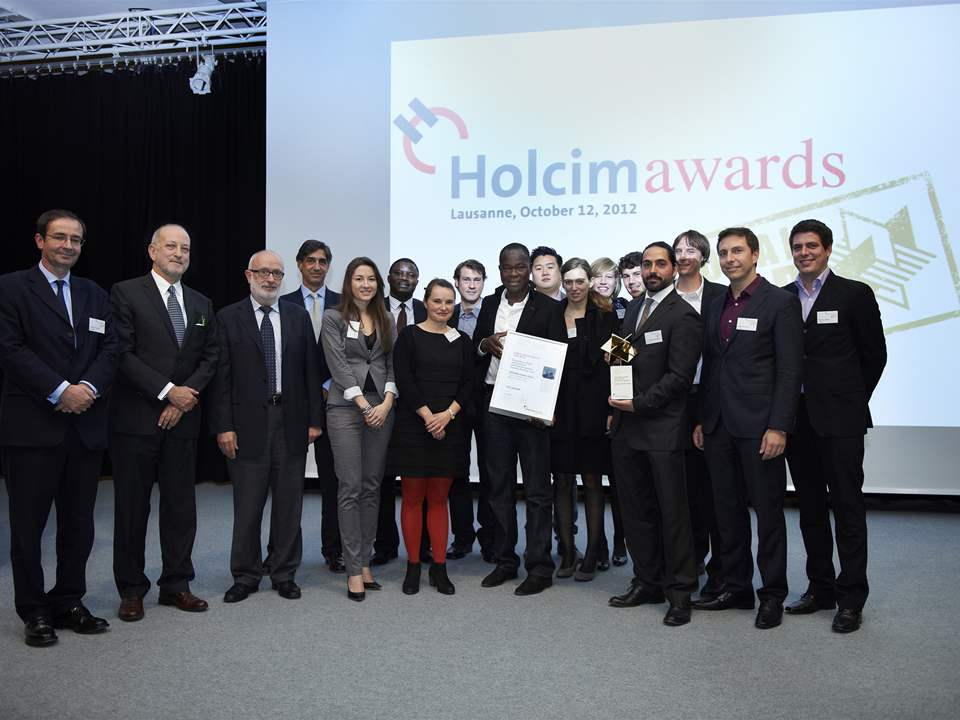 Presentation of the Global Holcim Awards Gold 2012 in Lausanne, Swizterland (l-r): Bernard …