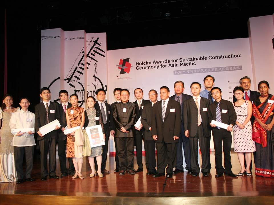 All prize-winners of the first Holcim Awards for Asia Pacific