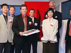 Holcim Awards Encouragements 2005 North America (l-r) John Hong (prize winner), Andy Hoffman, …