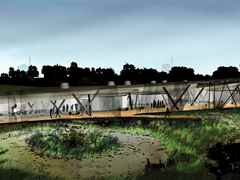 Holcim Awards Acknowledgement prize 2011 North America: Environmental center and bird-watching …