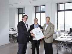 Global Holcim Awards 2012 finalist certificate handover – Energy and water efficient border …