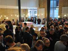"Over 300 guests attended the opening of the ""MACHEN!"" exhibition in Berlin."
