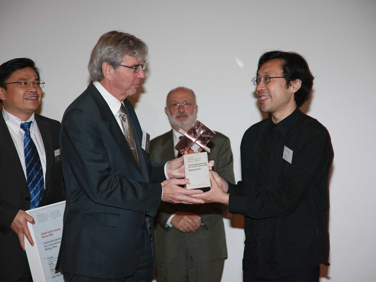 "Hand-over presentation to the winners of the global Holcim Awards Bronze prize 2009 ""Sustainable …"