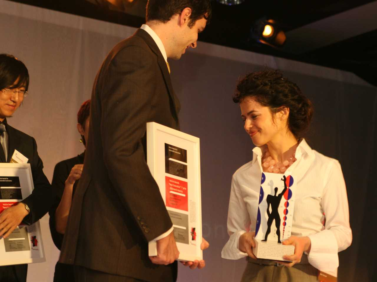 "Holcim Awards ""Next Generation"" 1st prize 2008 North America: Neri Oxman (right) and John …"