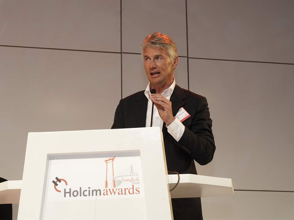 Global Holcim Awards Gold 2006 winner, Christoph Ingenhoven of Ingenhoven und Partner …