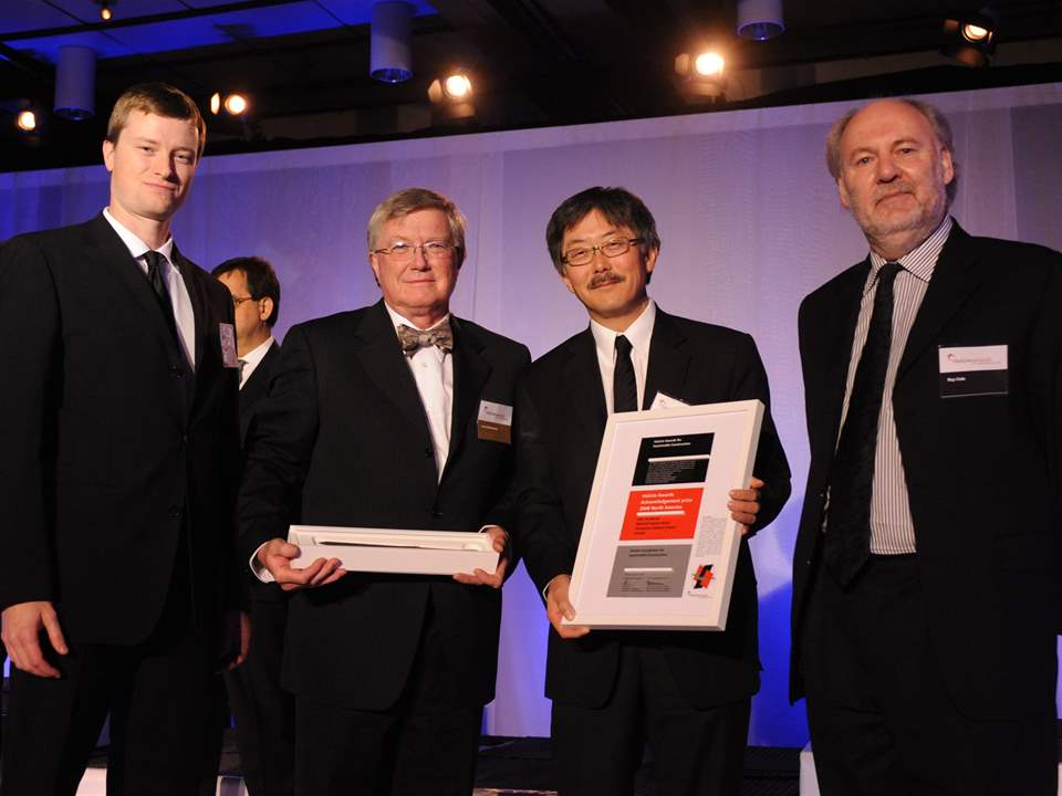 Holcim Awards Acknowledgement prize 2008 North America: (l-r)Craig Duffield, Larry McFarland and …