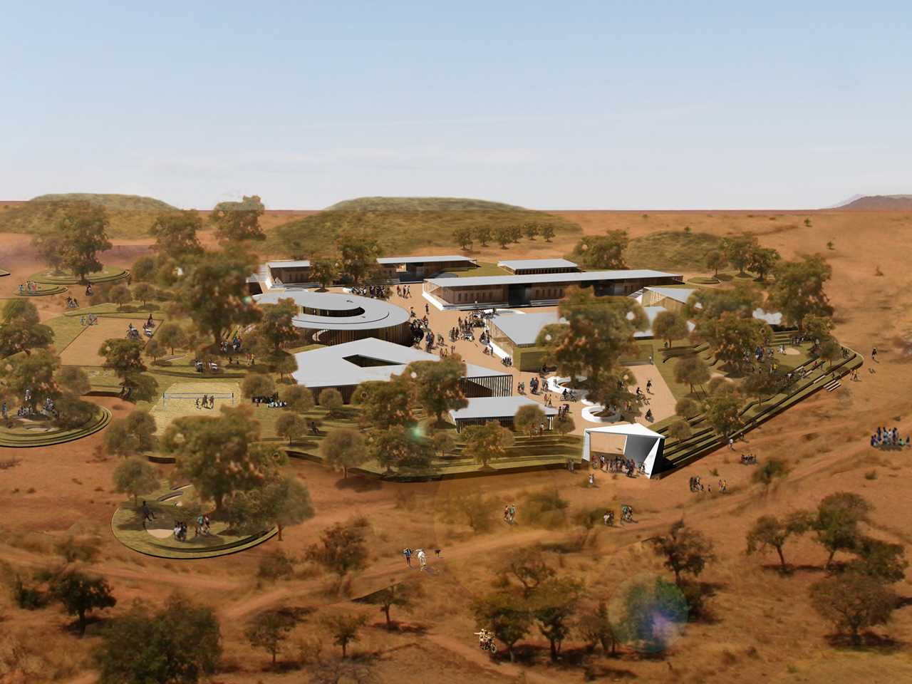 Global Holcim Awards Gold 2012: Secondary school with passive ventilation system, Gando, Burkina …