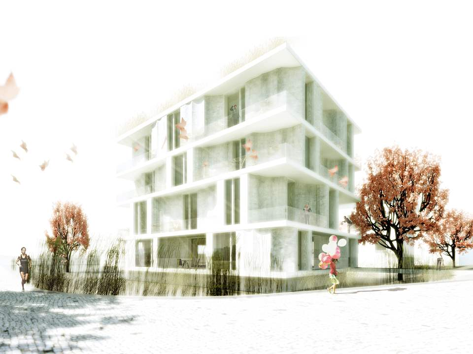 Global Holcim Innovation 2nd prize 2012: Low-cost apartments incorporating smart materials, …