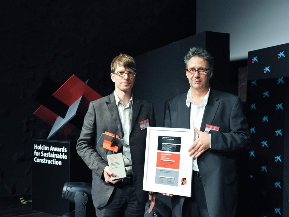 Holcim Awards Bronze 2008 Europe (l-r): Marcel Baumgartner, Project Manager and Andrea Deplazes, …