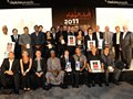 Prize winners in the Holcim Awards 2011 Africa Middle East at the prize ceremony in Casablanca …