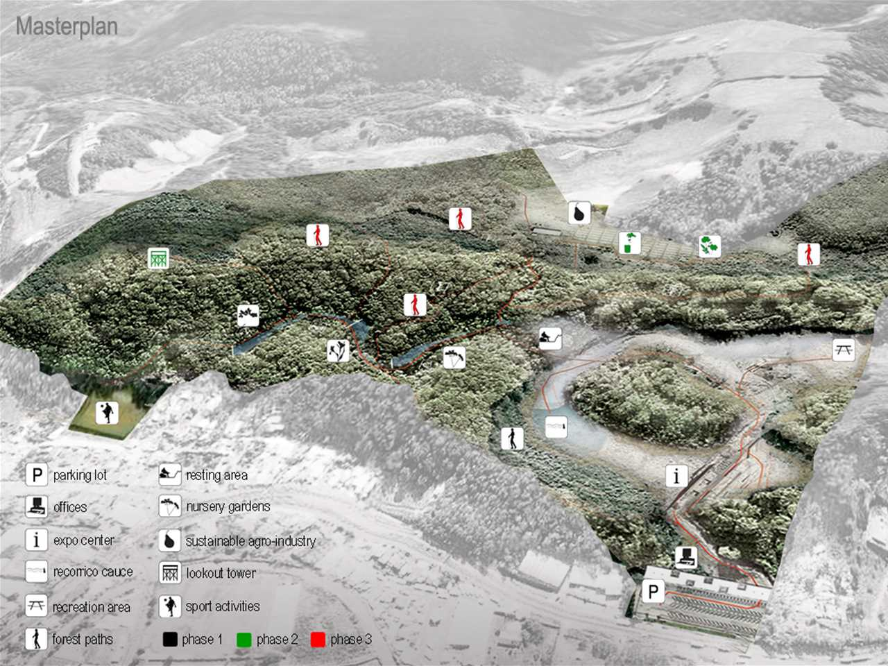 Project entry 2011 - Ecological awareness and recreation reserve, Banderilla, Mexico: Masterplan.