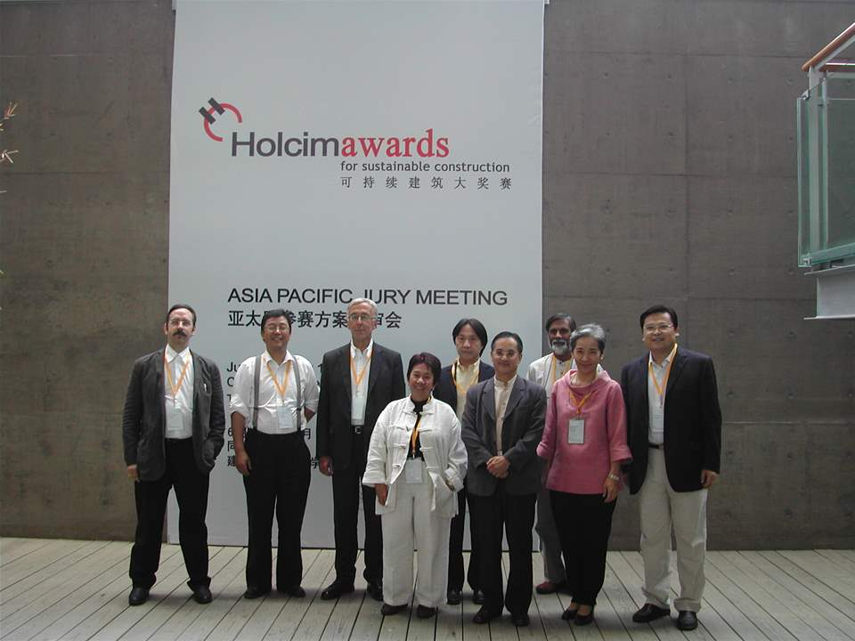 Jury Meeting 2005 for Asia Pacific (l-r): Donald Bates (Head of Jury), Zhiqiang Wu, Maria …