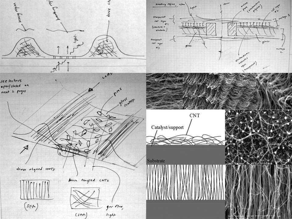 "Project entry 2008 North America - ""Construction in vivo - Microstructure research for building …"
