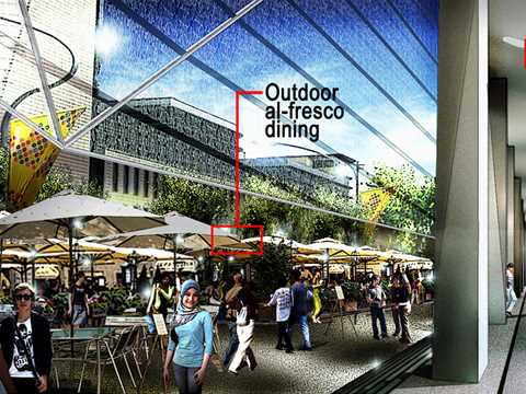 """Project entry 2011 """"Ecologically-designed retail and commercial building, Putrajaya, …"""