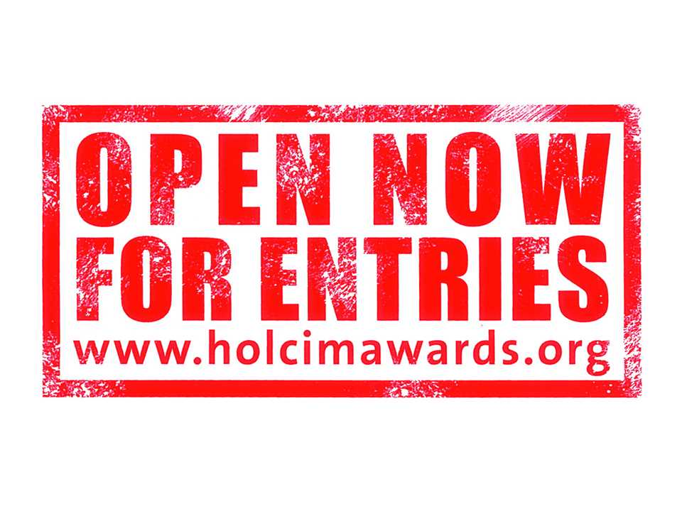 Holcim Awards: Now open for entries