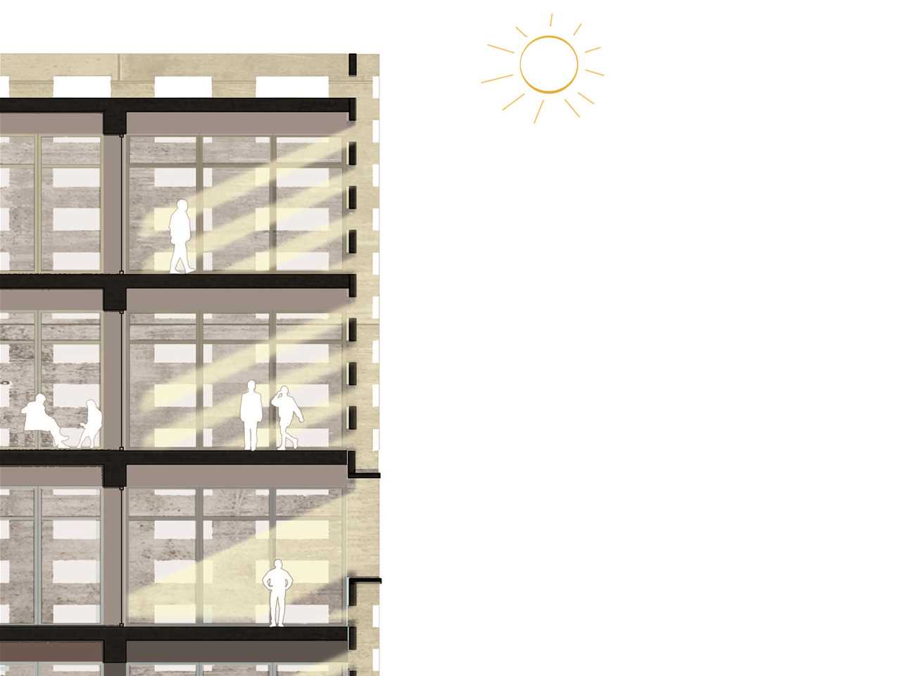 Project entry 2014 Africa Middle East - Weaving Publicness: Socially-integrated office …