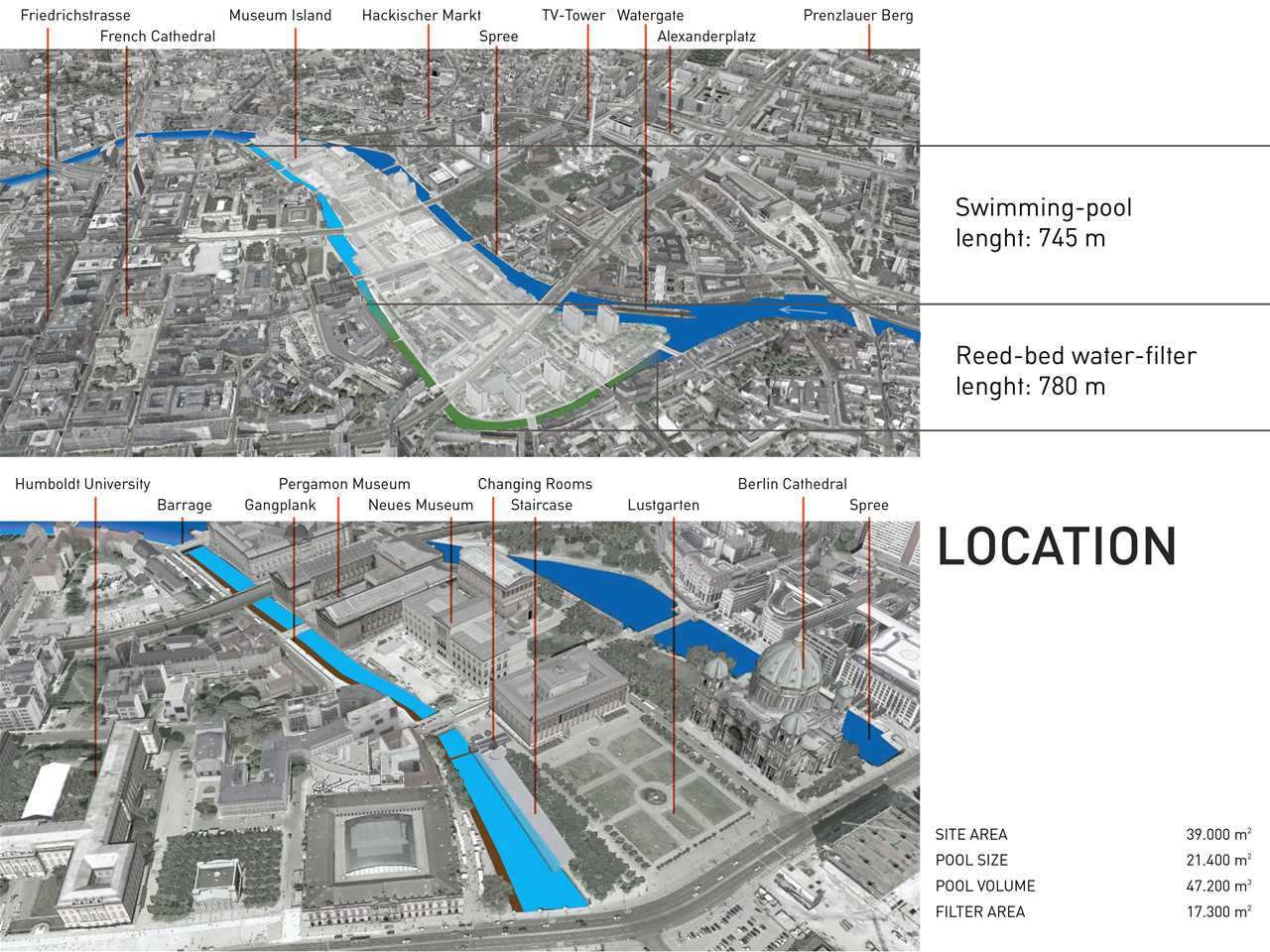 Project entry 2011 Europe – Urban renewal and swimming-pool precinct, Berlin, Germany